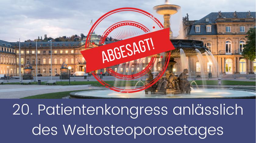Abgesagt: Der BfO-Patientenkongress am 17. Oktober in Stuttgart findet nicht statt!